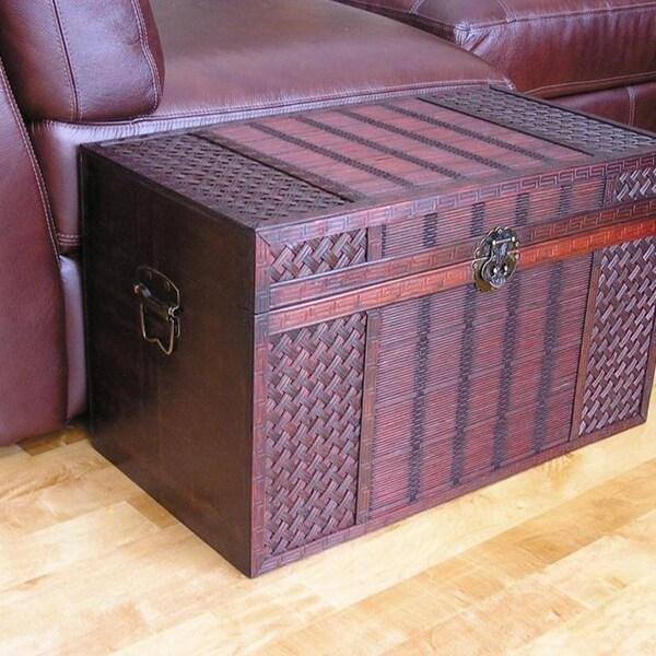 Best Shop Original Hawaii Medium Wood Trunk With Decorative This Month