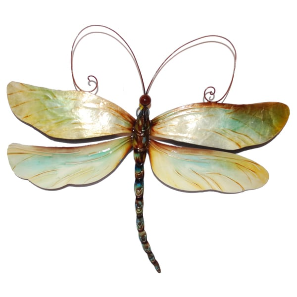 Best Metal And Capiz Dragonfly Wall Decor Handmade In Philippines Free Shipping On Orders Over This Month