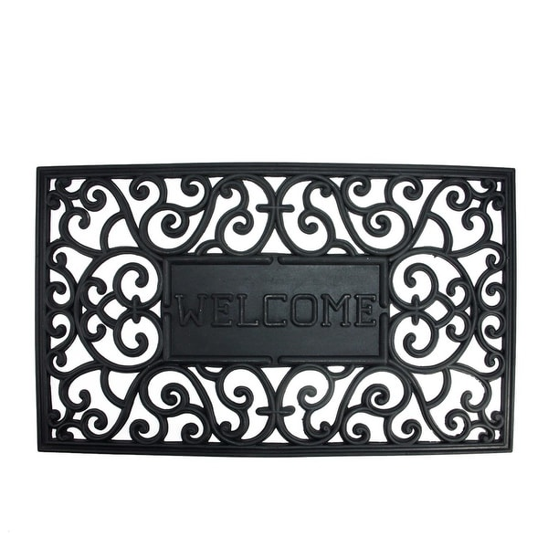 Best Shop Decorative Black Welcome Outdoor Rubber Rectangular This Month