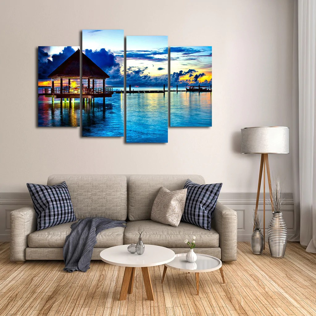 Best Maldives Multi Panel Canvas Wall Art Elephantstock This Month