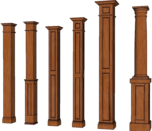 Best Square Columns Stain Grade Columns Stainable Columns This Month