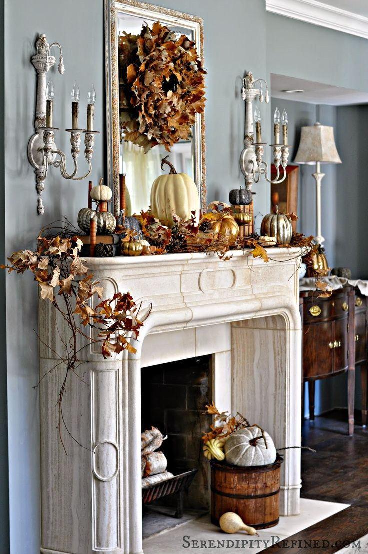 Best Fireplace Mantel Decor Ideas For Decorating For Thanksgiving This Month