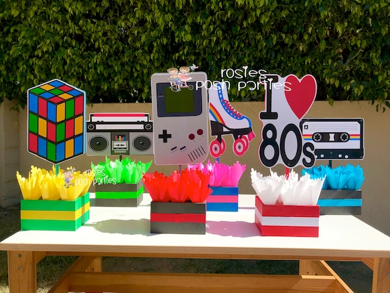 Best I Love The 80S Birthday Bash Party Centerpieces 80S Party This Month
