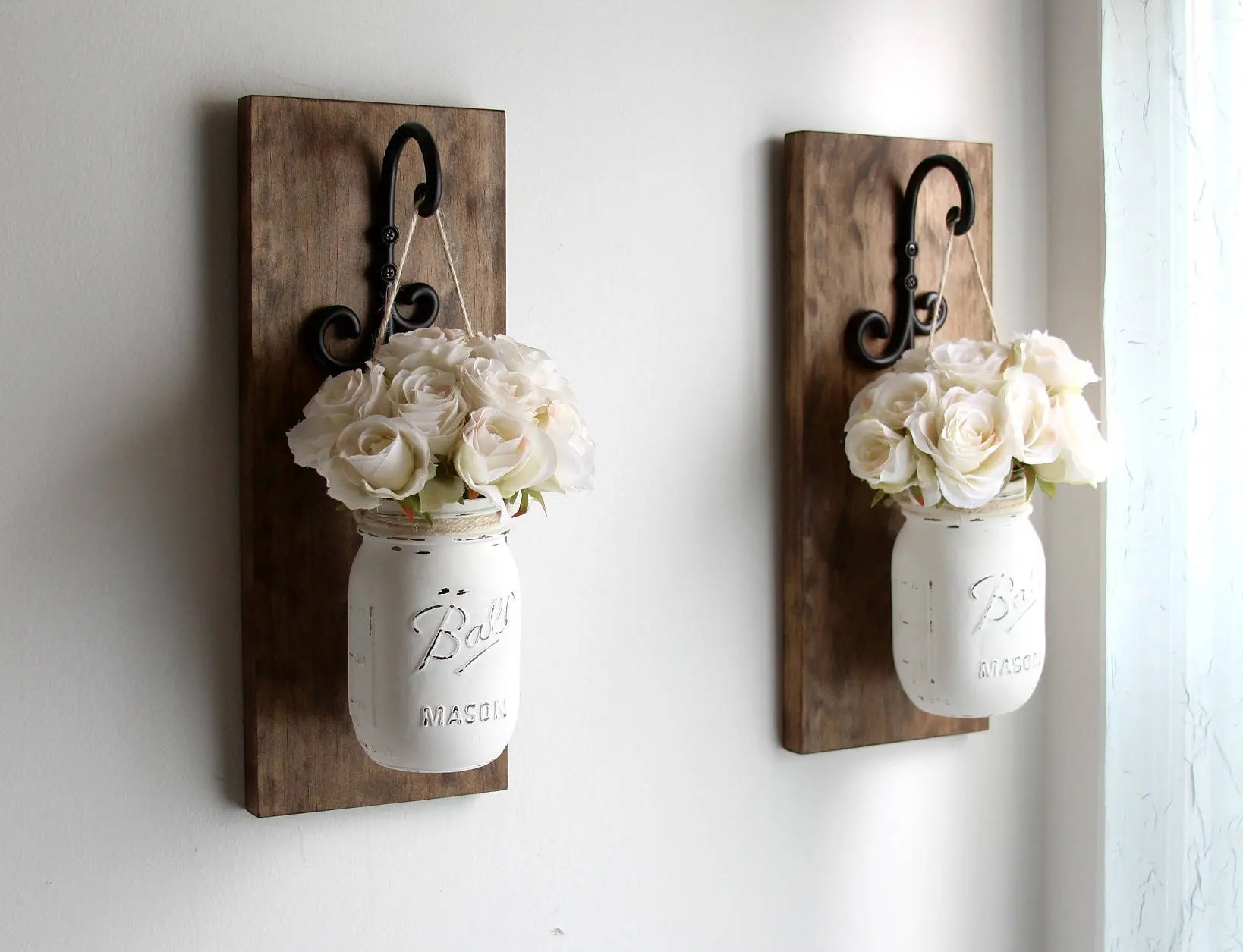 Best Rustic Home Decor Mason Jars Sconce Rustic Sconces Rustic This Month