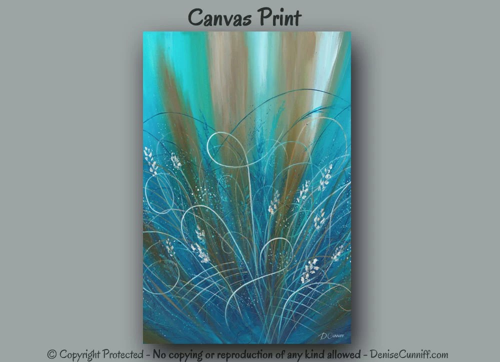Best Large Wall Art Brown Blue Turquoise Teal Home Decor Abstract This Month
