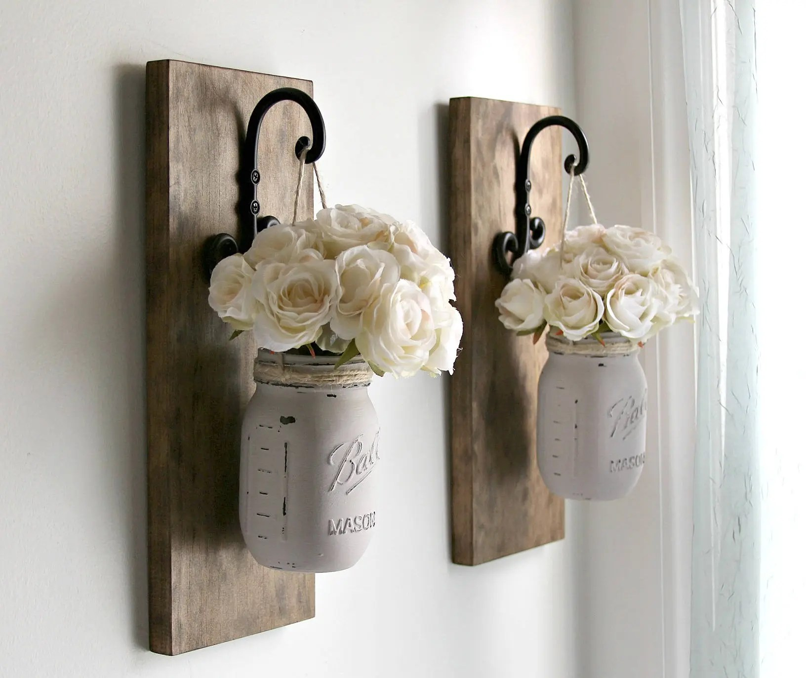 Best Rustic Wall Sconces Rustic Wall Decor Mason Jars This Month