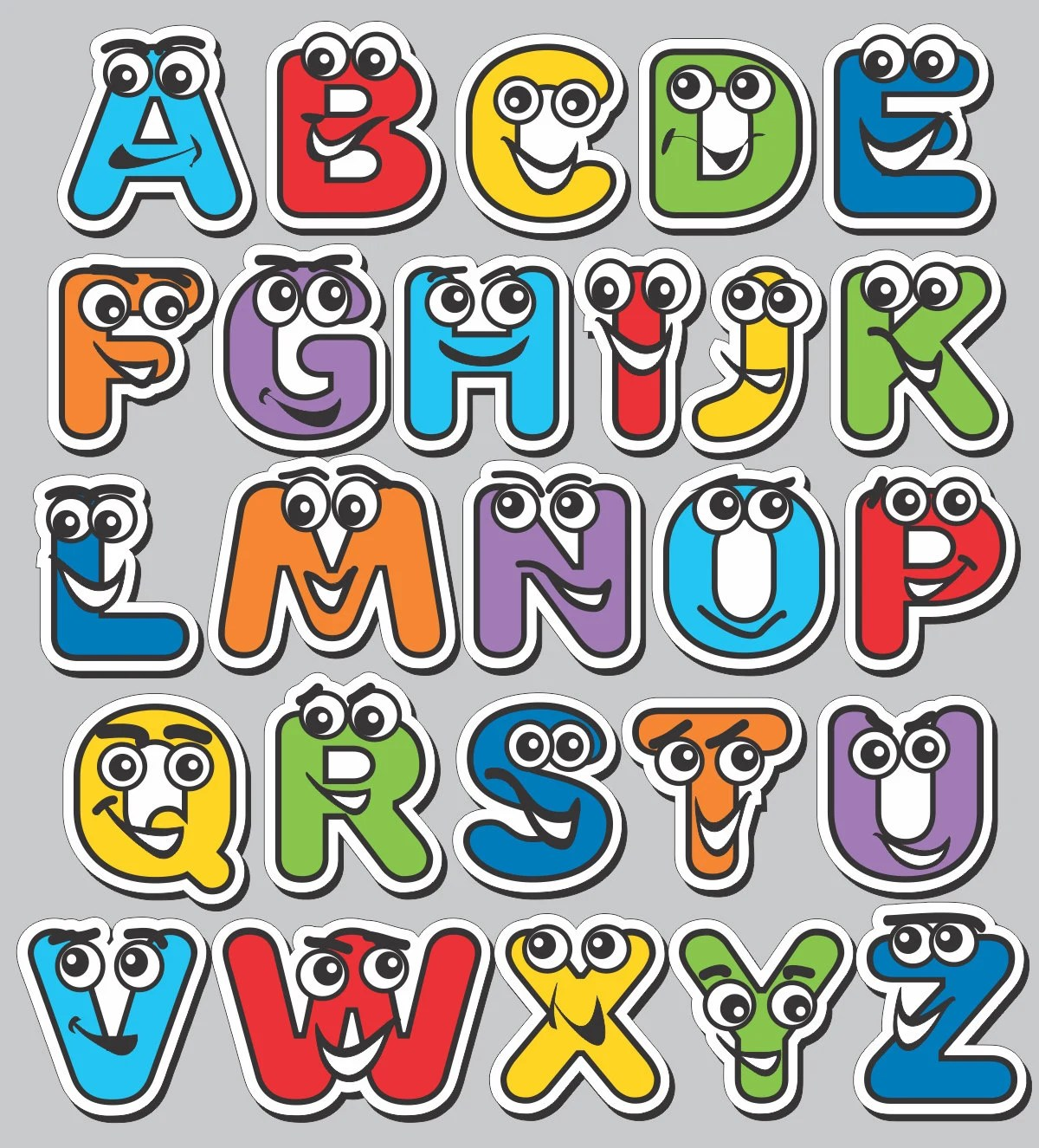 Best Wall Decor Alphabet Characters Abc Wall Stickers This Month