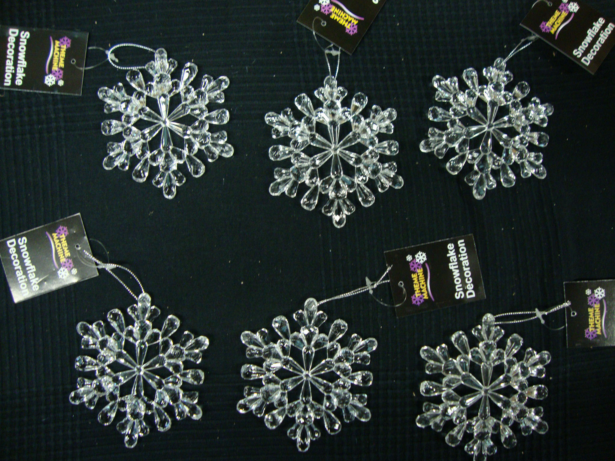 Best 6 X Large Acrylic Snowflake Hangers 11Cm Christmas Tree This Month