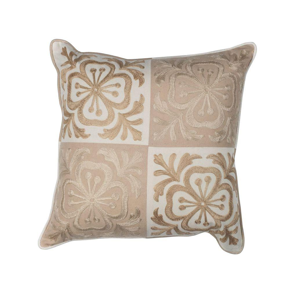 Best Kas Rugs Perfect Square Beige Ivory Decorative Pillow This Month