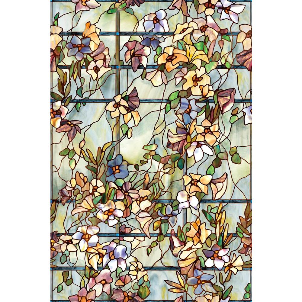 Best Artscape 24 In X 36 In Trellis Decorative Window Film 01 This Month