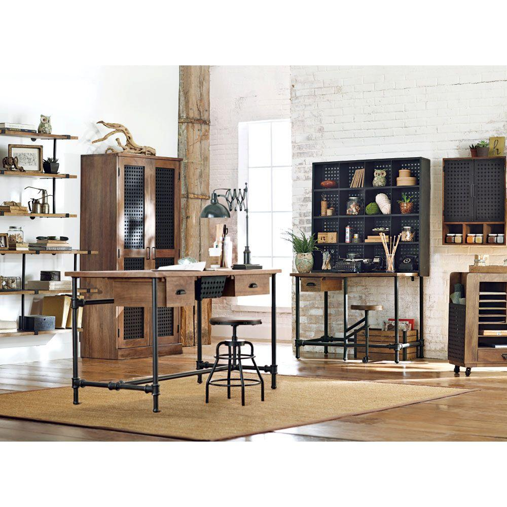 Best Home Decorators Collection Weathered Black Desk 2943300910 This Month