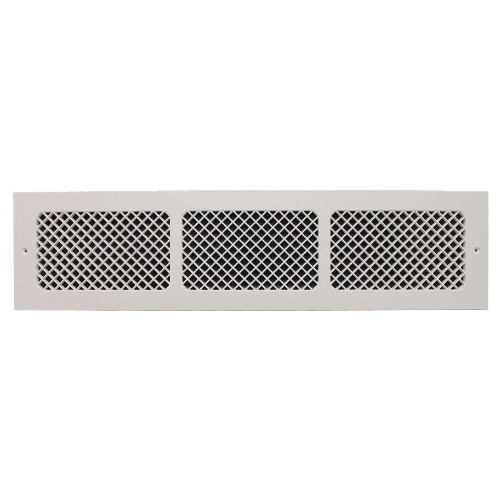 Best White Return Cold Air Vent 6 X 30 In Ventilation Grille This Month