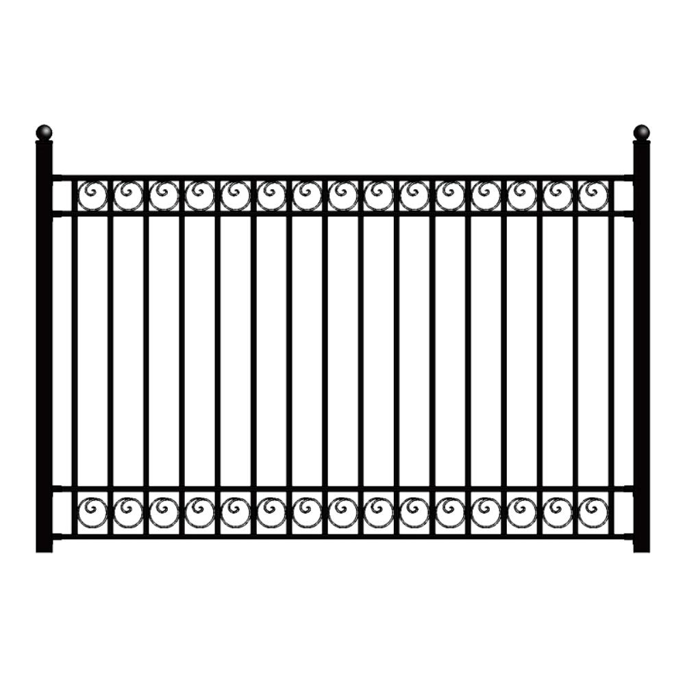 Best Aleko Dublin Style 5 Ft X 8 Ft Black Iron Fence Panel This Month