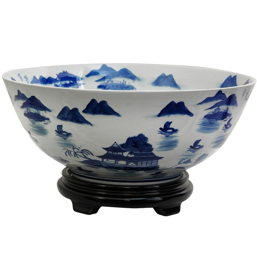 Best Oriental Furniture 14 In Porcelain Decorative Bowl In This Month