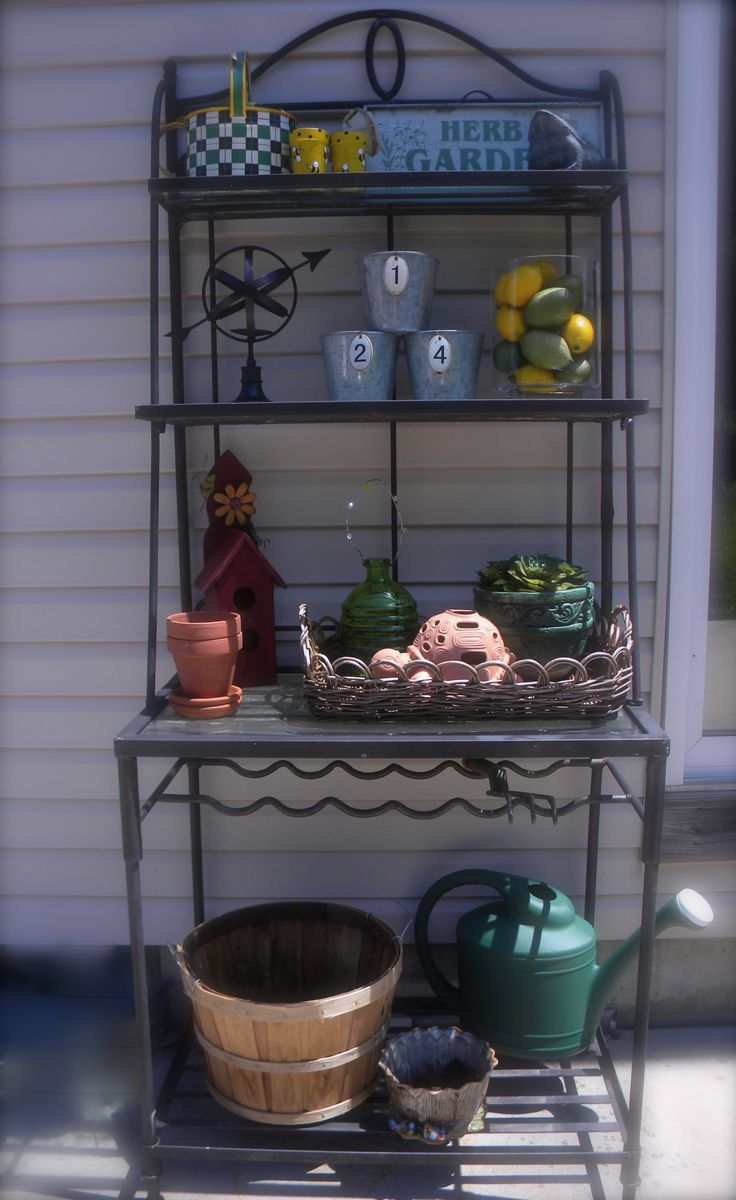 Best 30 Best Outdoor Bakers Racks Images On Pinterest Porch This Month