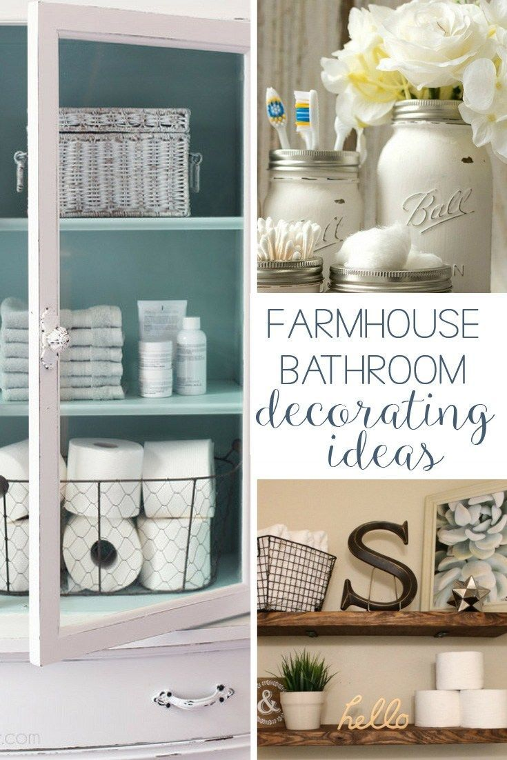 Best 19 Amazing Diy Farmhouse Bathroom Decorating Ideas Home This Month