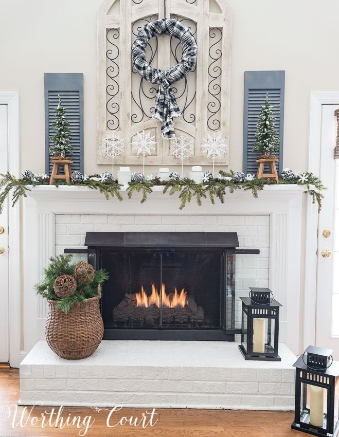 Best My After Christmas Snowy Winter Fireplace Home Decor This Month