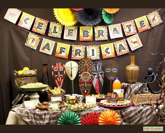 Best Celebrate Africa Printable Party Supplies African Safari This Month
