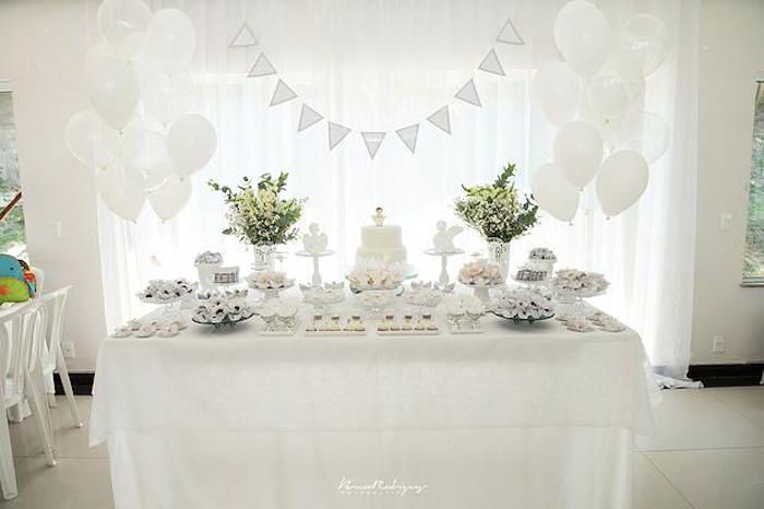 Best Elegant White Baptism Dessert Table Party Party Design This Month