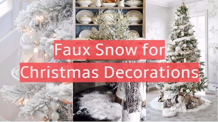 Best 90 Creative Fake Snow Ideas For Christmas Decorations This Month