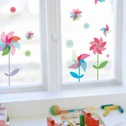 Best Pin Wheels Decorative Window Decals Happy Spring This Month