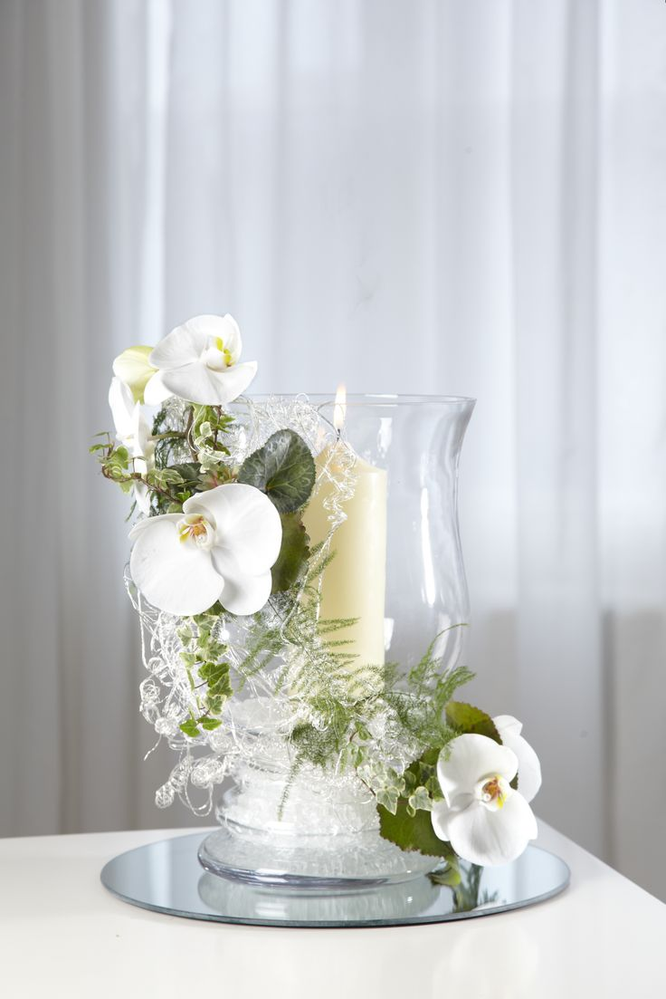 Best Clear Glass Hurricane Vase Teamed With Oasis® Mini Deco S This Month