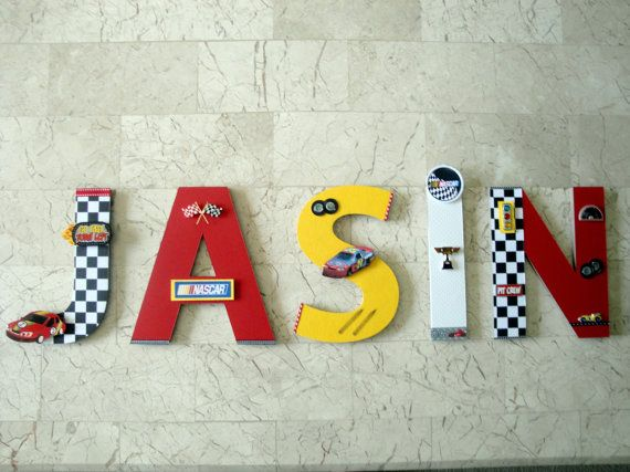 Best Race Car Wall Letters Race Car Big Boy Room Nascar Man This Month