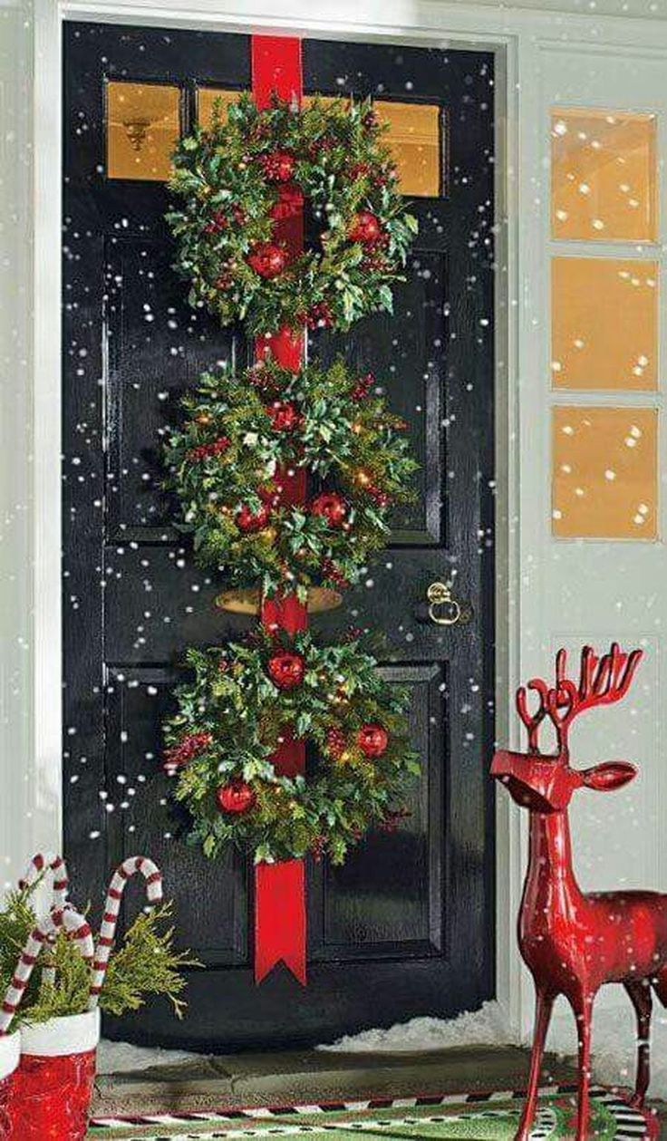 Best 484 Best Christmas Doors Wreaths B*Lls Images On This Month