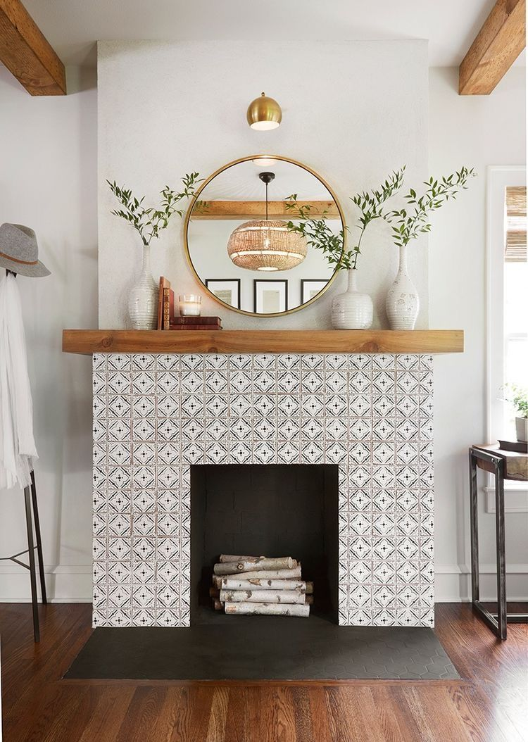 Best Minimal Home Tiled Fireplace Wood Accents Home Decor This Month