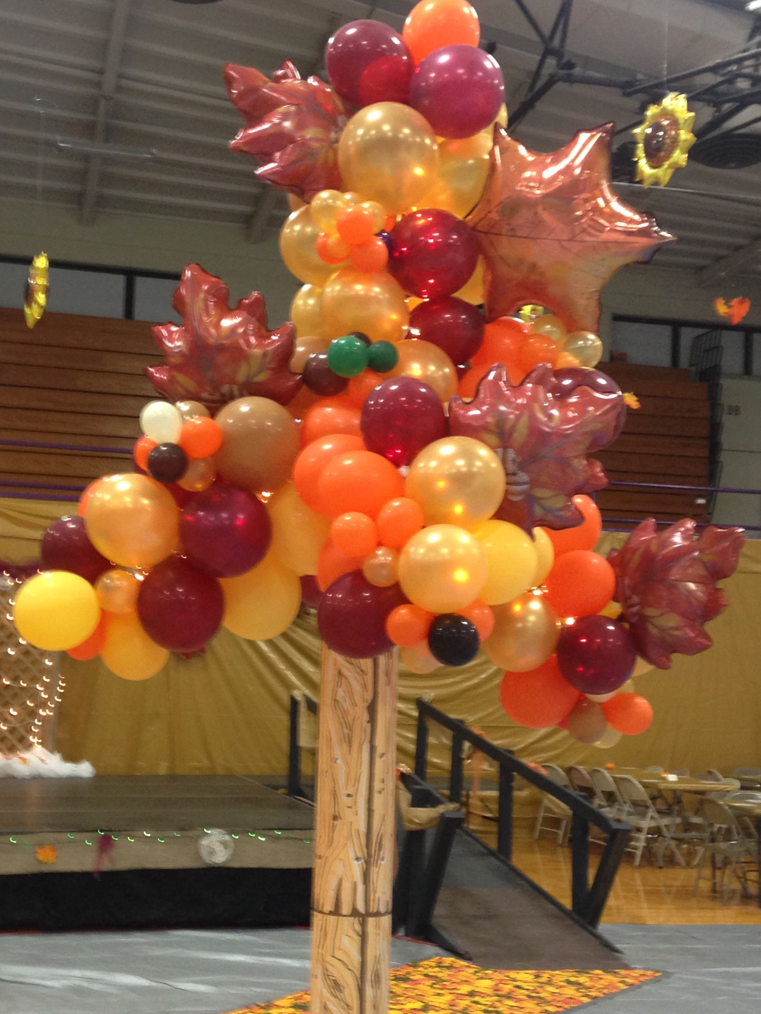 Best Fall Balloon Tree At Shs 2015 Homecoming Dance Theme The This Month