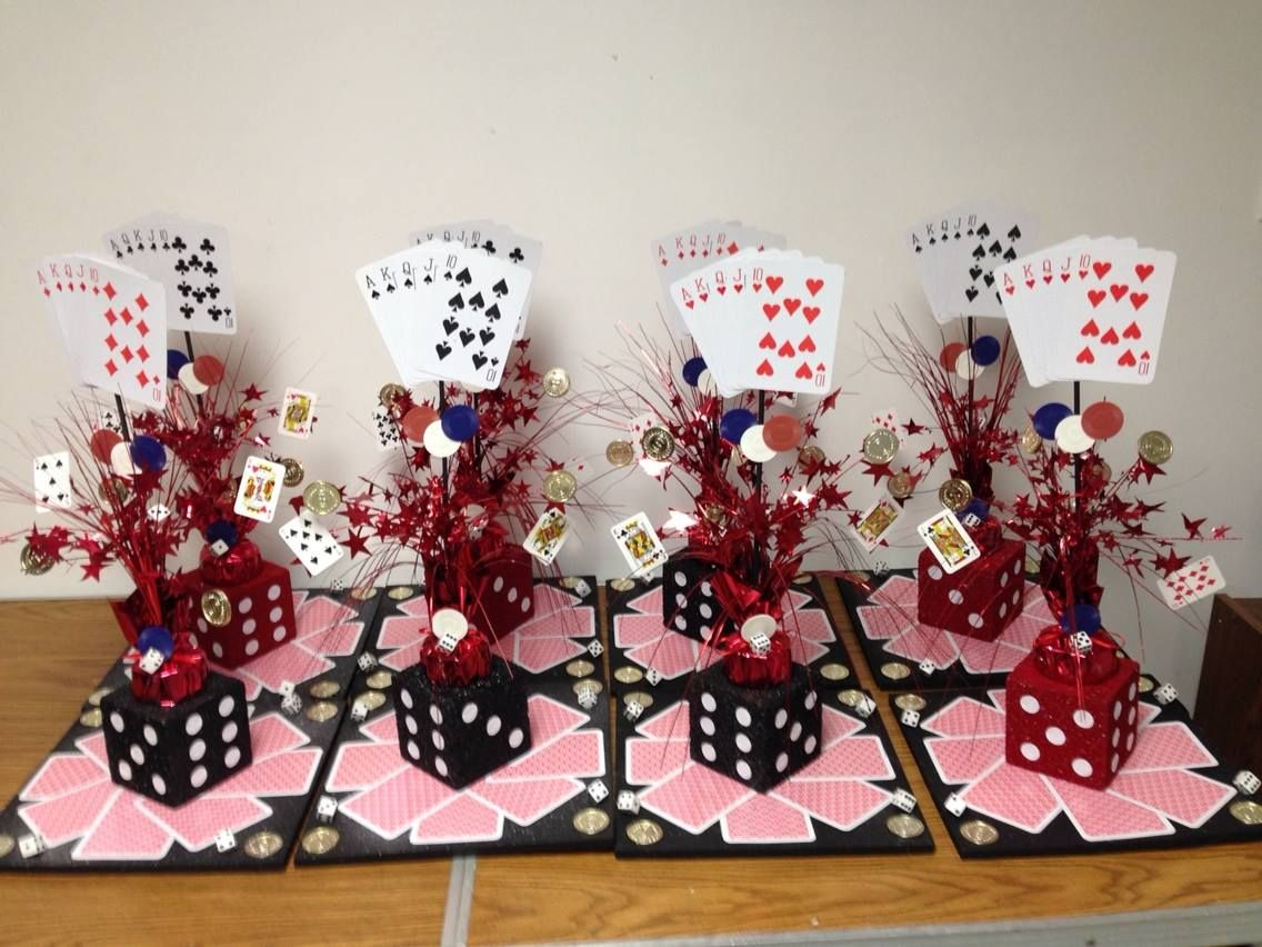Best Casino Themed Centerpieces I Made These For Under 10 This Month