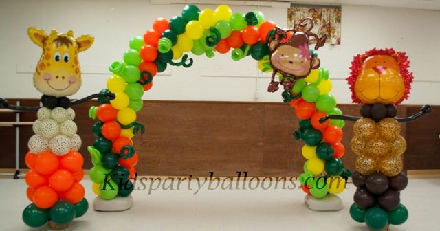 Best Jungle Safari Balloon Decorations Houston Kids Party This Month