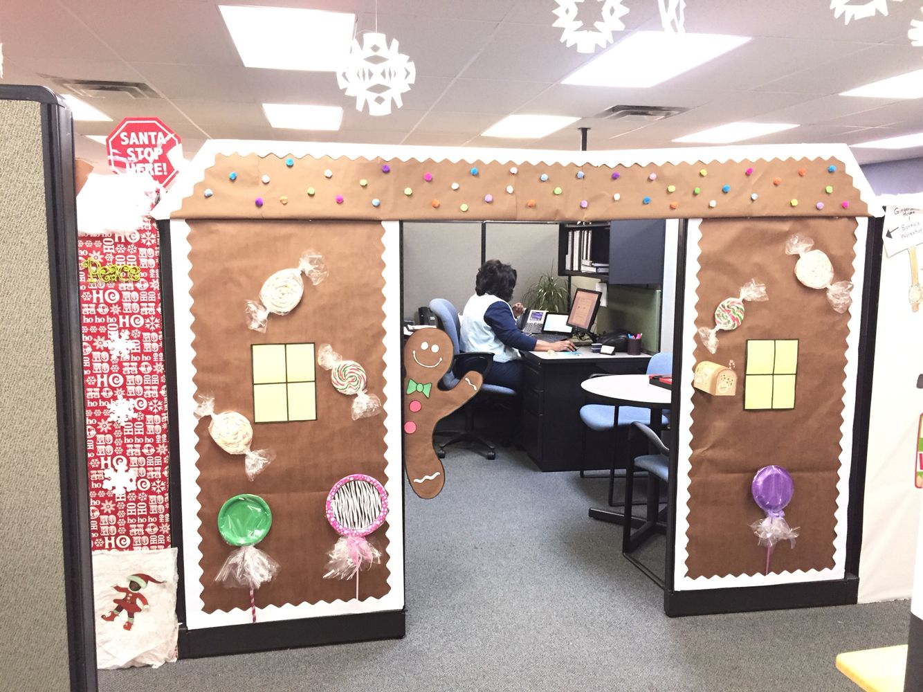 Best Gingerbread House Christmas Cubicle Office Christmas This Month