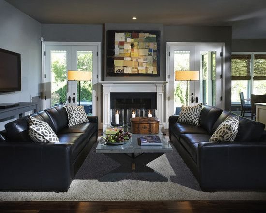 Best How To Decorate Around The Black Leather Couch For The This Month