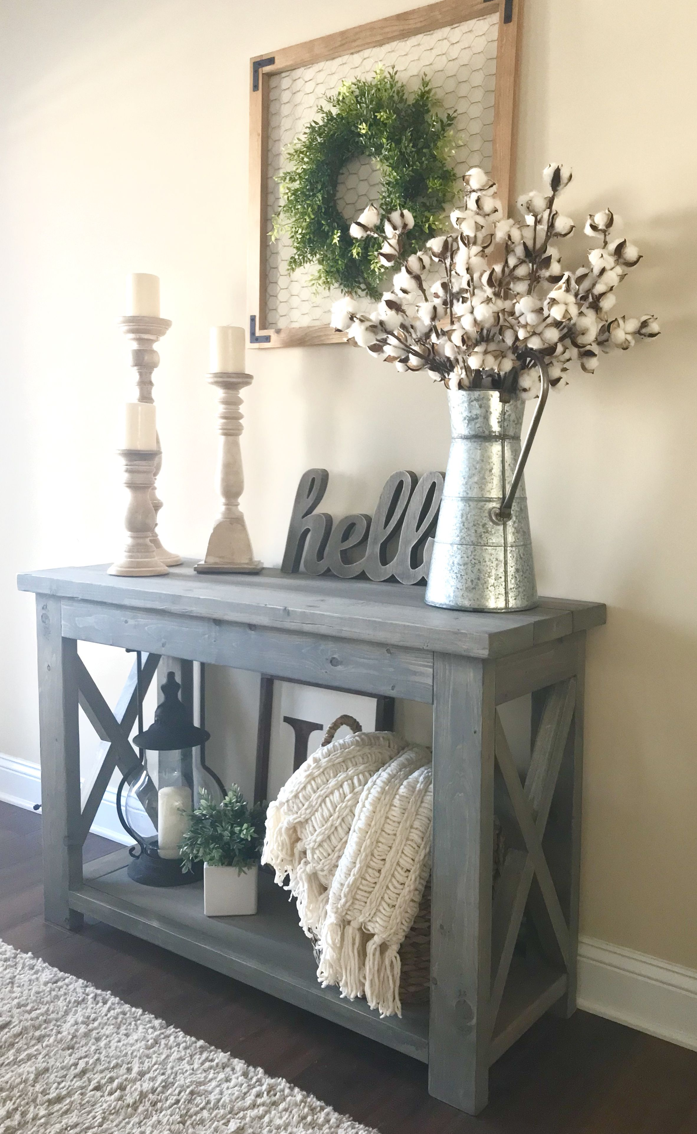 """Best Modified Ana White's Rustic X Console Table 48"""" Wide And This Month"""