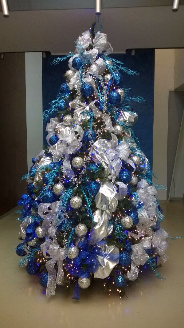 Best Silver Blue Tree Christmas Silver Christmas Tree Blue This Month