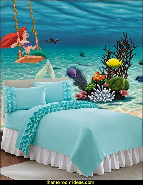 Best Ariel Wall Decal Underwater Wall Mural Ruffled Bedding This Month