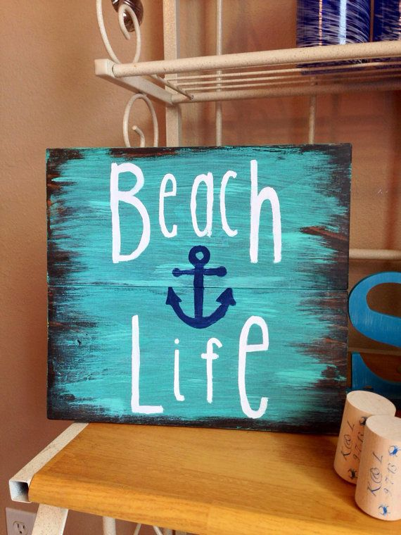 Best Beach Life Wooden Sign Nautical Sign Beach Sign Beach This Month