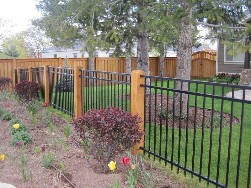 Best Fortress Ornamental Iron Fencing With Wood Posts Fencing This Month