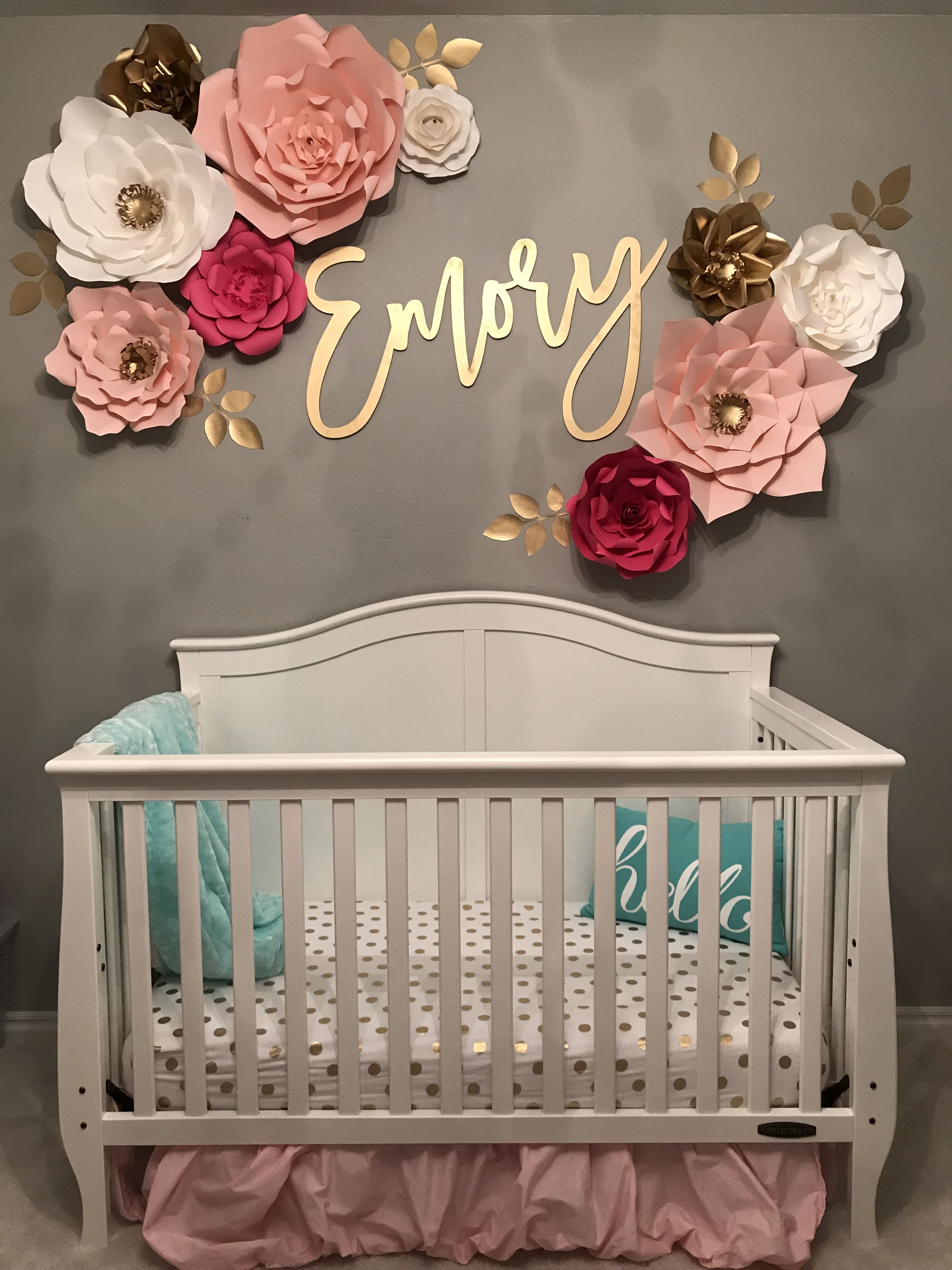 Best Baby Girl Nursery Name Decal Wall Flowers Kids Rooms This Month