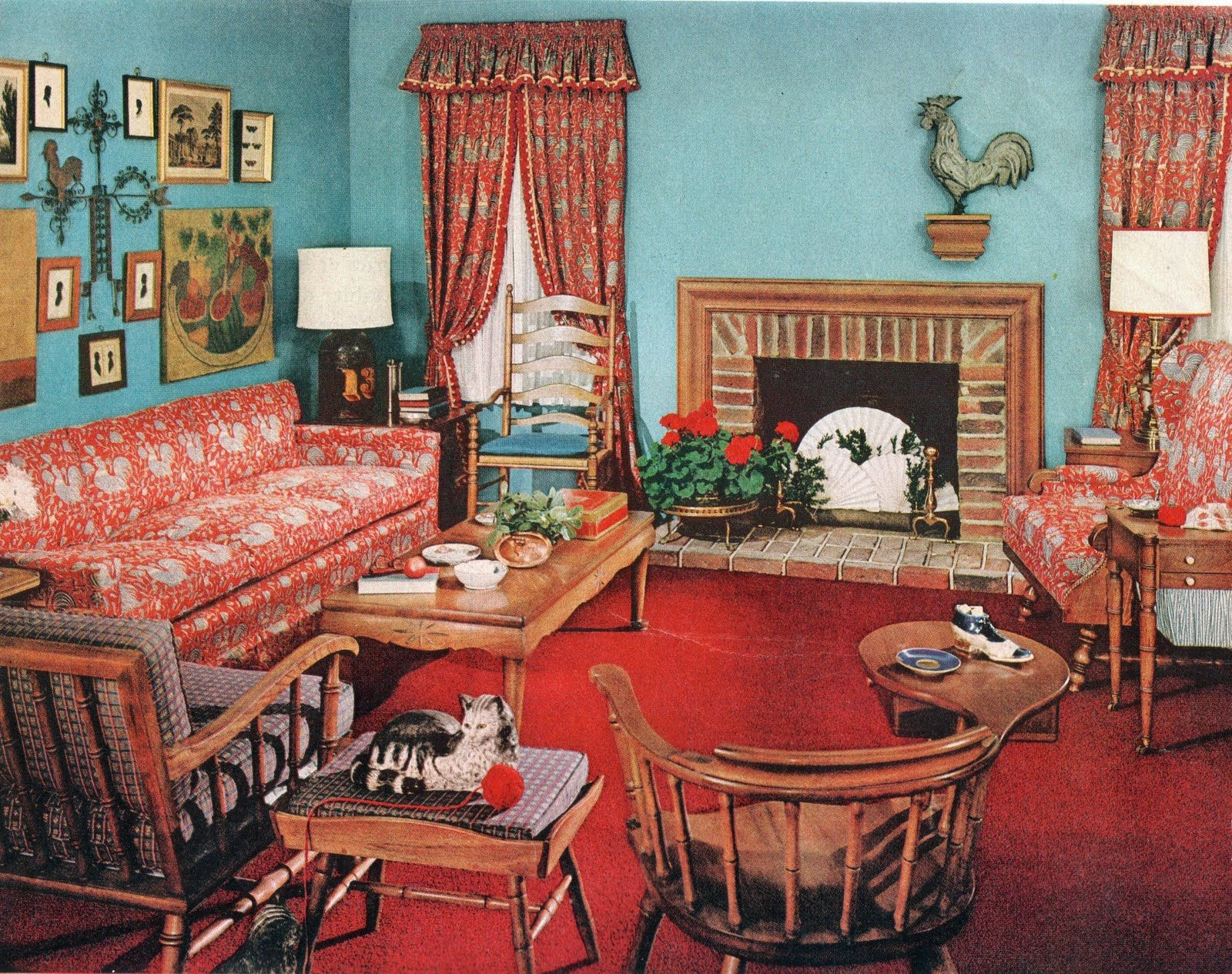 Best Early American 1950 S Living Room Lots Of Hard Rock This Month