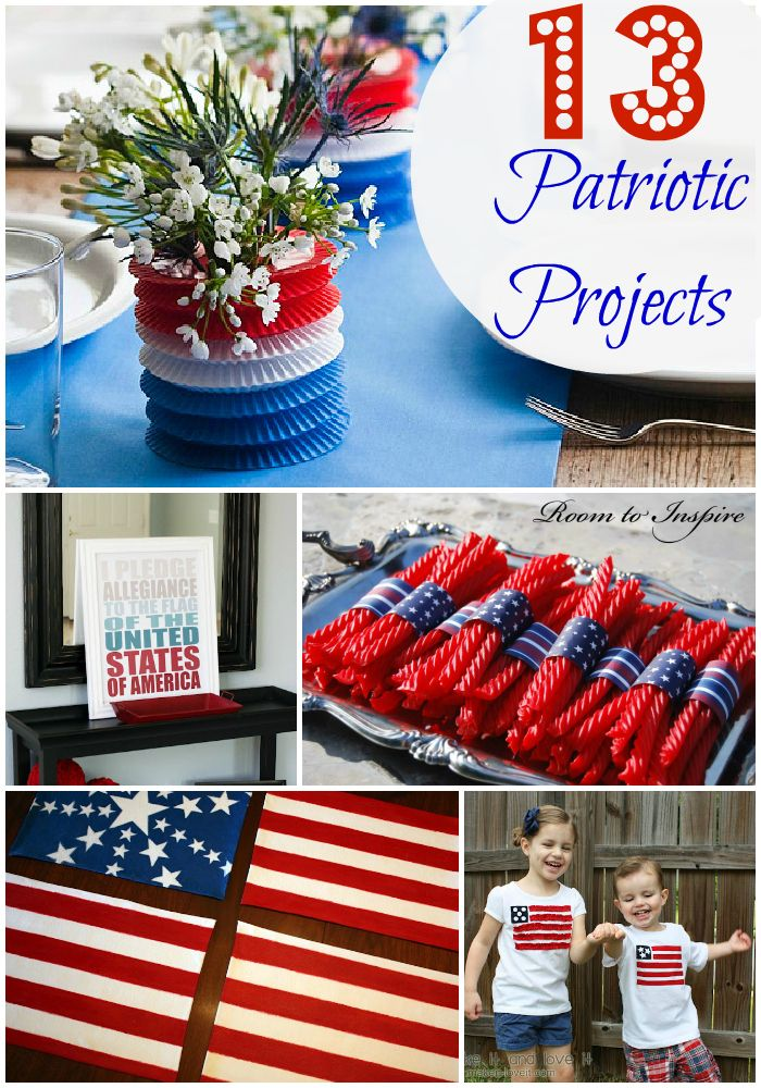 Best Red White And Blue Table Decorations Easy Diy Fourth Of This Month