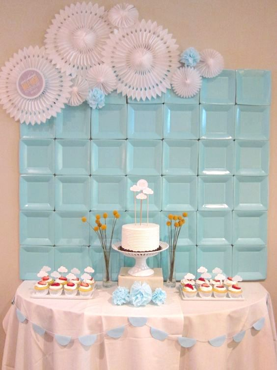 Best Diy Easy Cheap Paper Plate Party Backdrops Baby Girl This Month