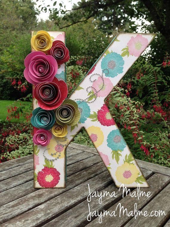 Best Baby S Initial Flowery Custom Designed 3D Letter Nursery This Month