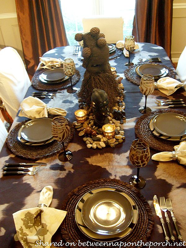 Best Going On Safari A Safari Themed Table Setting Africa This Month