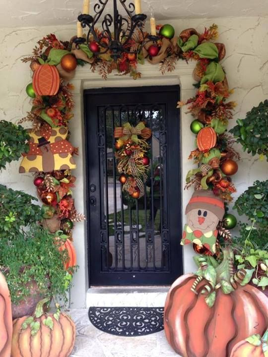 Best Fall Door Garland Thanksgiving Autumn Decorating Fall This Month