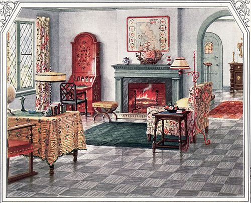 Best 1925 Armstrong Living Room Designs From The Past 1920S This Month
