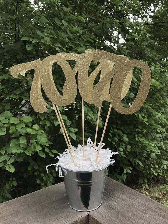 Best 70Th Birthday Centerpiece Sticks Glitter 70Th Birthday This Month