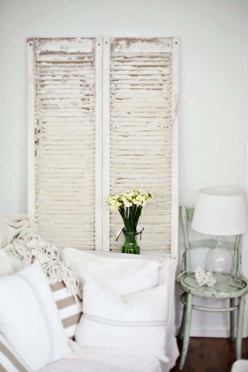 Best Makeover Vintage Shutters Get The Beach Cottage Decor This Month