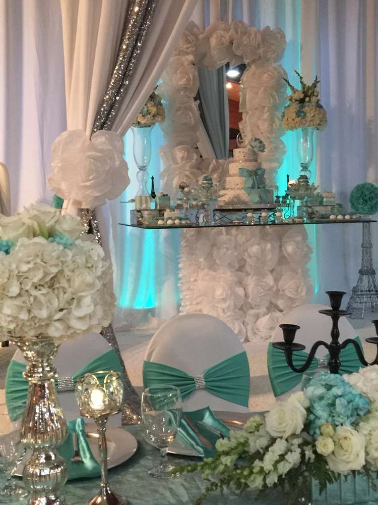 Best Lovely Tiffany Quinceañera Party See More Party Planning This Month